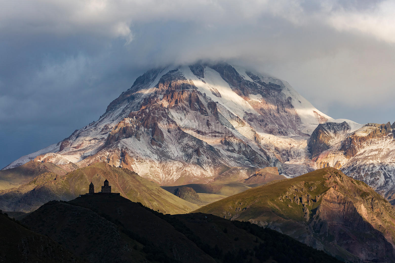 Mt Kazbegi with a Fresh Dusting of Snow