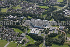 Skelmersdale aerial photograph of the Concourse Shopping centre and offices