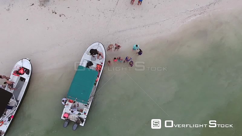 Tour Boats off Holbox Mexico