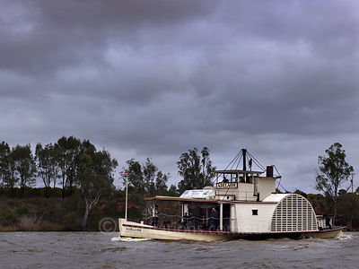 PS Adelaide at Yelta on the Murray River.