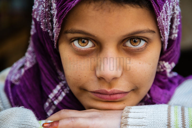 Portrait of a Young Girl with Hazel Eyes