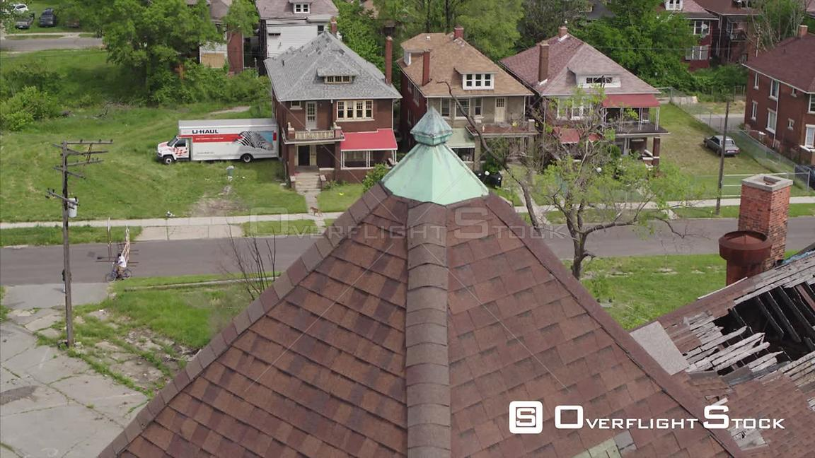Drone Video Abandoned Church in Suburban Detroit Michigan