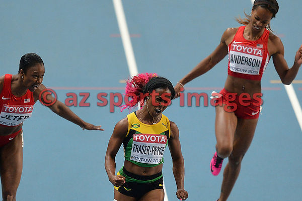 100m | Jamaican Fraser Pryce  the new World Champion 2013