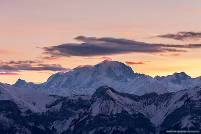 Dawn at Mont-Blanc summit - Annecy Semnoz