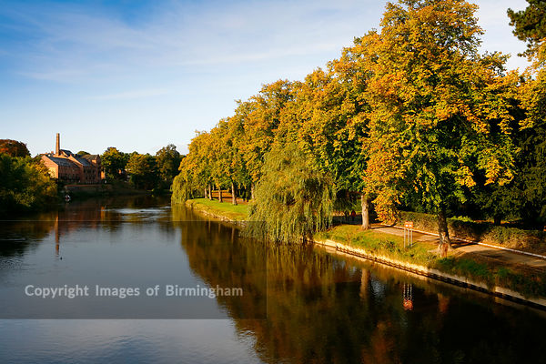 River Severn in Shrewsbury,  Shropshire in autumn.