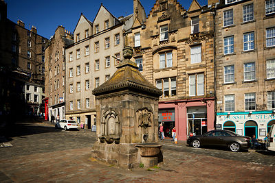 Grassmarket water fountain