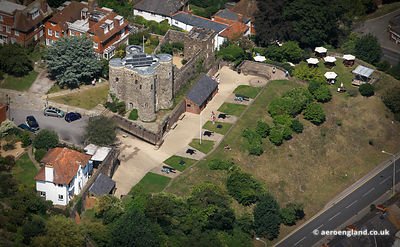 aerial photograph of Rye  Castle East Sussex  England UK