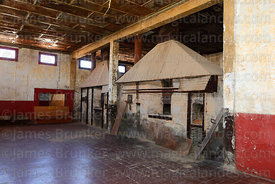 Disused oven in bakery of abandoned nitrate mining town of Humberstone, Region I, Chile