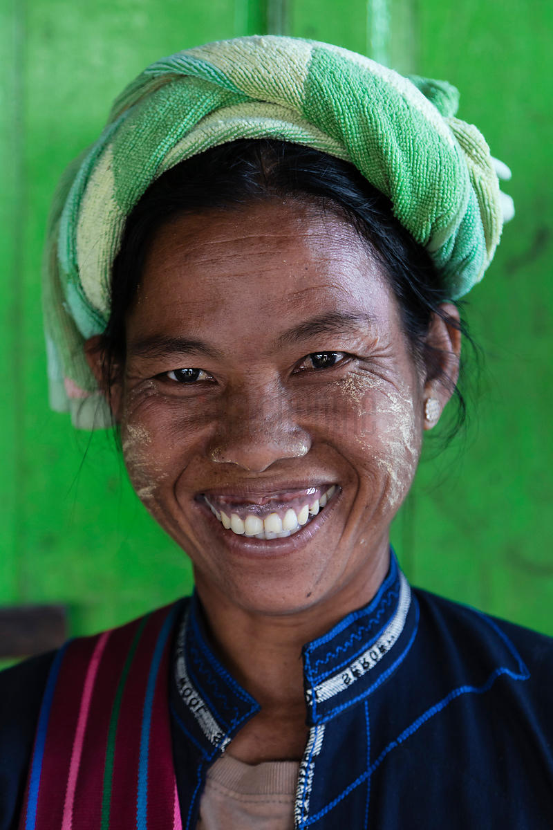 Portrait of a woman from a Hill Tribe around Inle Lake