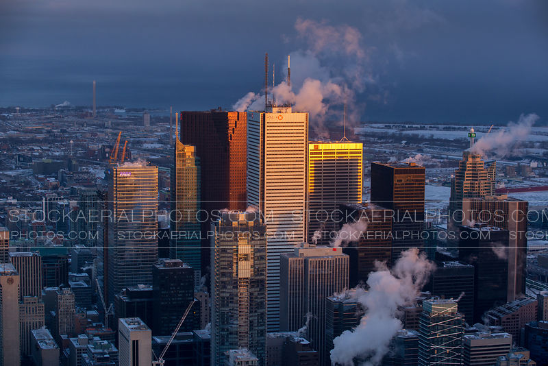 Toronto Financial District in Winter