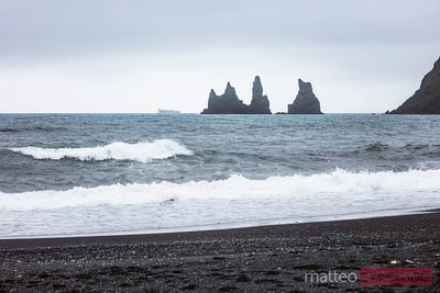 Sea stacks and black sand beach, Vik, Iceland