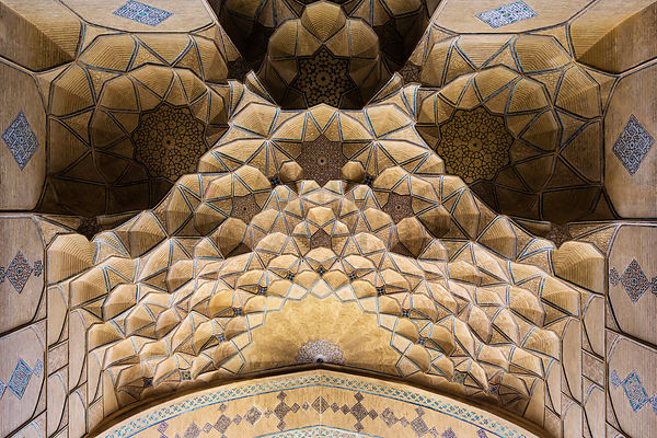 Ceiling of Entrance to Masjed-e Jāmé of Isfahan