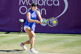 Catherine Bellis (USA) wining againstCarla Suárez Navarro (ESP) the first round at the Mallorca Open 2017 in Santa Ponsa - Ma...