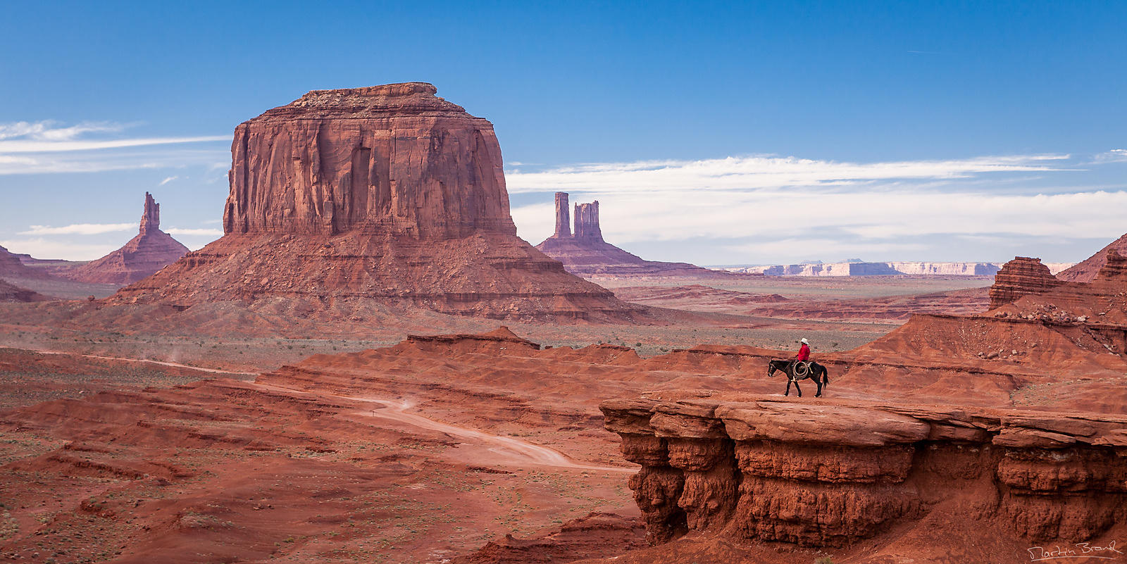 Cowboy en ballade, Monument Valley