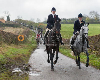 Maz Medcalf and Jane Hubbard - The Cottesmore Hunt at Tilton on the Hill 10/11/12