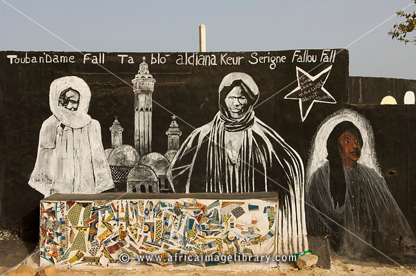 Photos and pictures of: Brotherhood mural, Gorée Island, Senegal