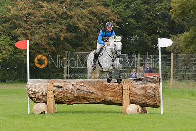 Craig Nicolai and JUST IRONIC - cross country phase,  Land Rover Burghley Horse Trials, 6th September 2014.