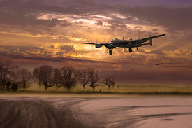 Morning return: Lancasters at sunrise