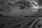 Lysander on secret operation, B&W version