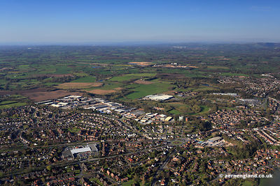 aerial photograph of Congleton Cheshire England UK
