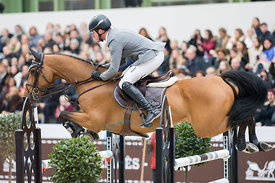 Paris, France, 17.3.2018, Sport, Reitsport, Saut Hermes - PRIX GL Events Bild zeigt Philipp WEISHAUPT(GER) riding Belo Horizo...
