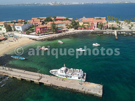 Gorée Island from above