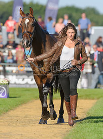 Sophie Jenman and GERONIMO - The final vets inspection (trot up),  Land Rover Burghley Horse Trials, 8th September 2013.