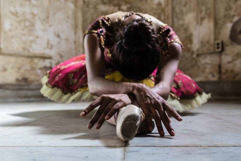 Ballerina in Colonial Home