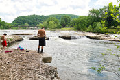 Boys Fishing In Youghiogheny River- Ohiopyle, PA