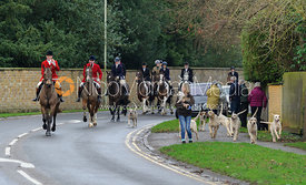 Huntsman Andrew Osborne MFH with the Cottesmore hounds in Oakham