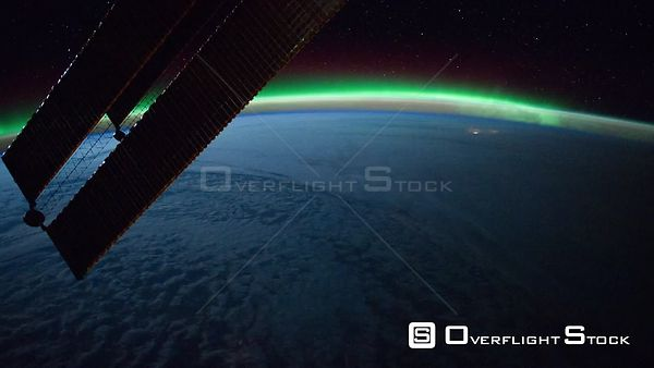 Time-Lapse from ISS over  Atlantic Ocean Aurora Borealis 02 Feb 2012