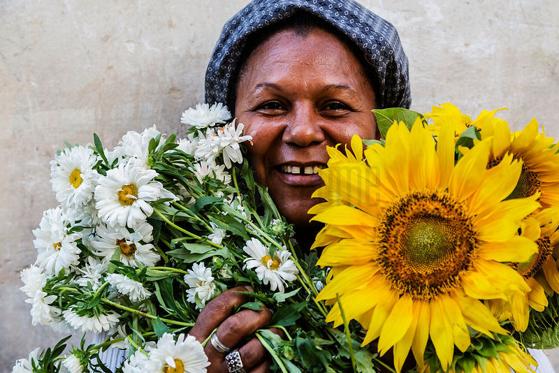 Portrait of a Flower Seller Amelia