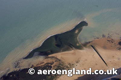 aerial photograph of the Kent Dinosaur rock formation in Kent  England UK