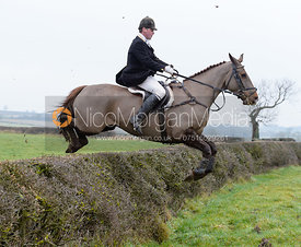 Jumping a hedge on Greenall's