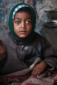 Outgoing boy with cerebral palsy in Pushkar, Rajasthan, India