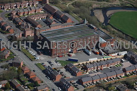 Bury aerial photograph of the Pilot Mill outlet centre, Alfred Road Bury