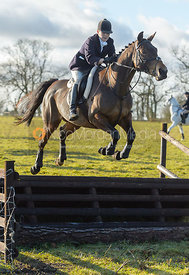Jumping a fence at Cream Gorse - The Quorn at Cream Gorse Farm
