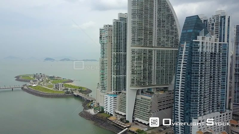 Punta Pacifica Downtown Drone Video of Panama City Highrises and Hotels