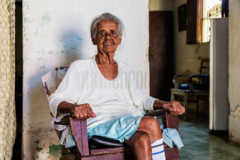 Portrait of an Elderly Woman in her Home