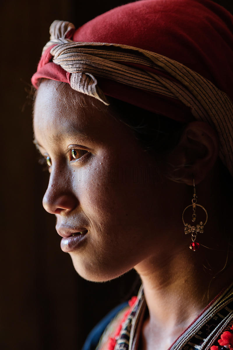 Portrait of a Red Dzao Woman