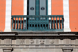 Detail of balcony of Presidential Palace, Plaza Murillo, La Paz, Bolivia