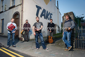 12th September, 2014.The band Porterhead from left to right:  Liam King, Paul McClure, Lorcan Brady, Joe Junker and James Fra...
