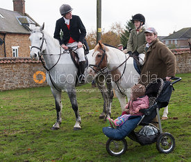 Marcus Collie with the Speeds - The Cottesmore Hunt at Tilton on the Hill 10/11/12