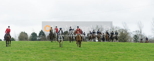 The Cottesmore Hunt at Ladywood Lodge 28/2