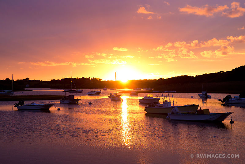 SUNSET BOATS POND MARTHA'S VINEYARD