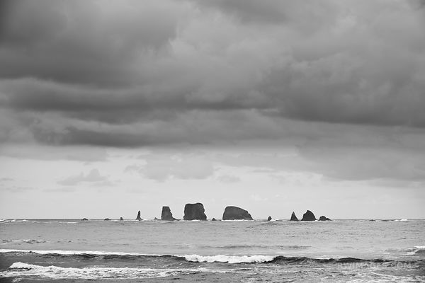 SEA STACKS FIRST BEACH LA PUSH OLYMPIC NATIONAL PARK WASHINGTON