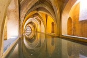 Baths of Lady Maria de Padilla in the Alcazar of Seville, Spain