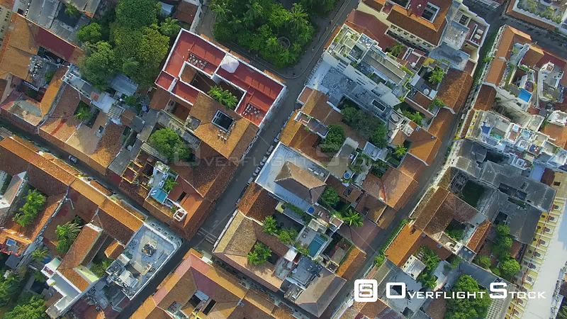 Vertical View Cartagena Colombia Drone Footage