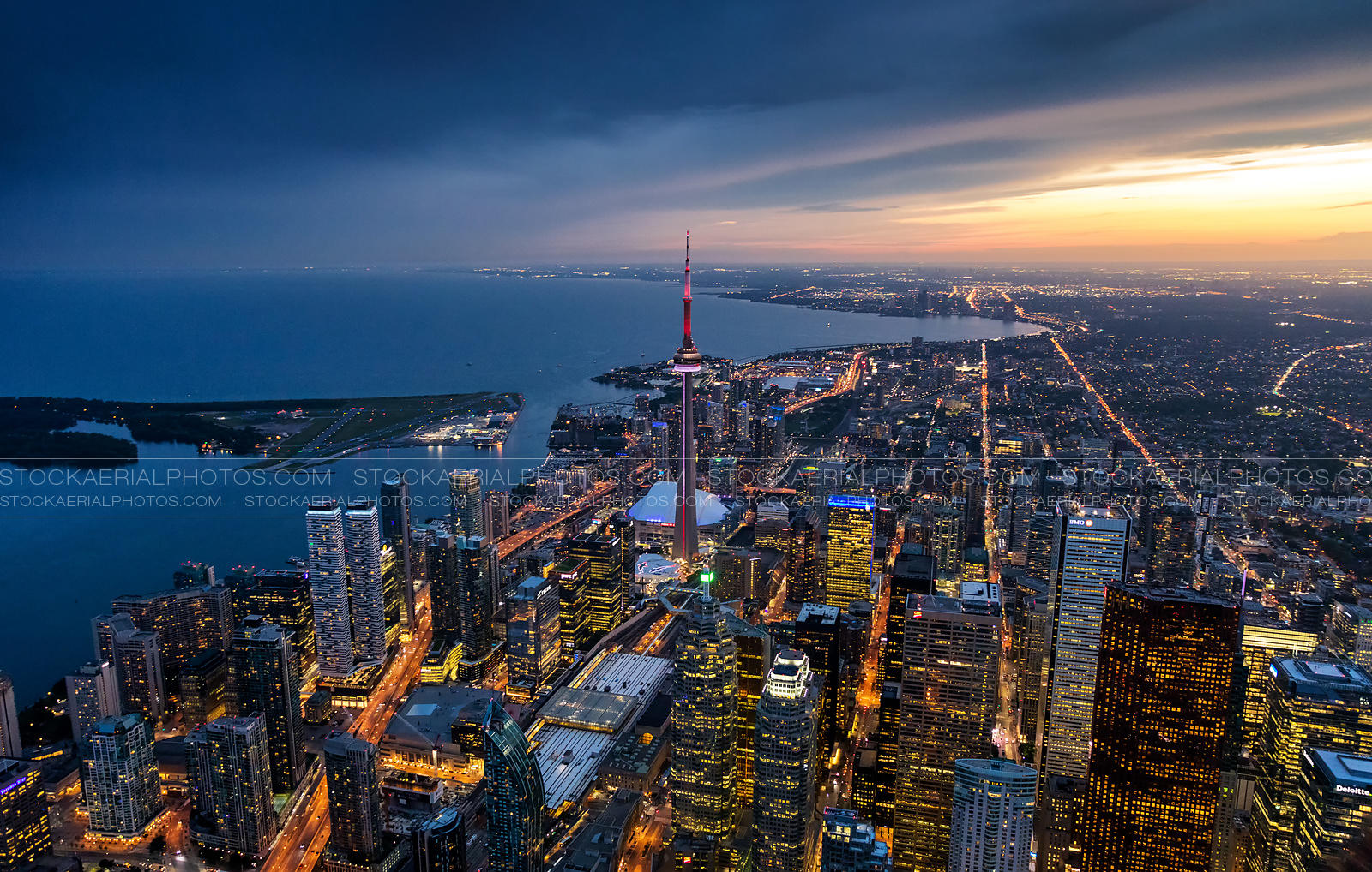 Downtown Toronto at Sunset