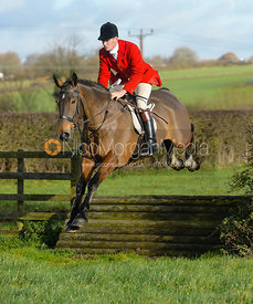 Ollie Finnegan jumping a tiger trap - The Quorn Hunt at Woodpecker Farm